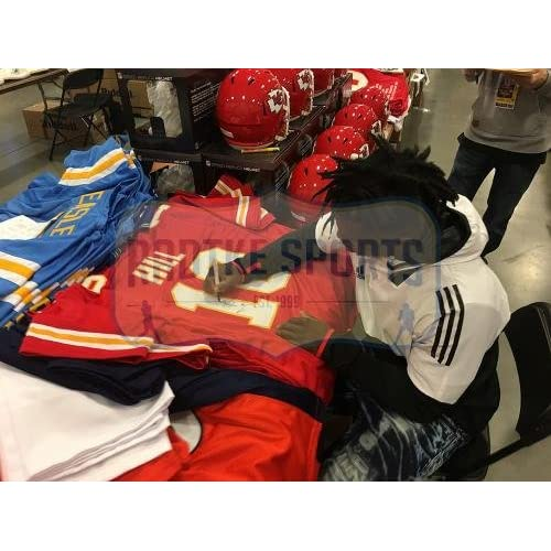 new style b1d94 0683f 70%OFF Tyreek Hill Autographed Jersey - Custom Red ...