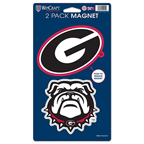 WinCraft NCAA University of Georgia WCR29038014 Magnets (2 Pack), 5