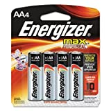 MAX Alkaline Batteries, AA, 4 Batteries/Pack, Sold as 2 Package