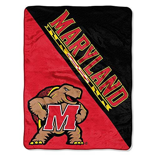 "The Northwest Company Officially Licensed NCAA Maryland Terrapins Halftone Micro Raschel Throw Blanket, 46"" x 60"""