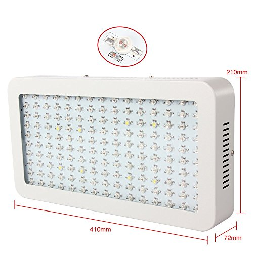 51k0WLGrOOL - LED Grow Light 1500W Morsen Full Spectrum Growing Lamp Double-Chips 10W LED Indoor Plant Lamp For Greenhouse Hydroponic Vegetables Growth
