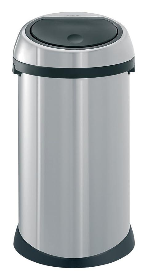 Brabantia Prullenbak 40 Liter.Brabantia Touch Bin 50 L Matt Steel Fingerprint Proof