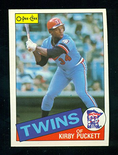 1985 O-Pee-Chee OPC Kirby Puckett Rookie Card RC #10 - Minnesota Twins - Much more limited than Topps - Baseball Card ()