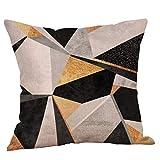 Pillowcase,Hot Sale! Hongxin Geometric Printed Cotton Linen Throw Pillow Cases Sofa Cushion Cover Home Decor (D)