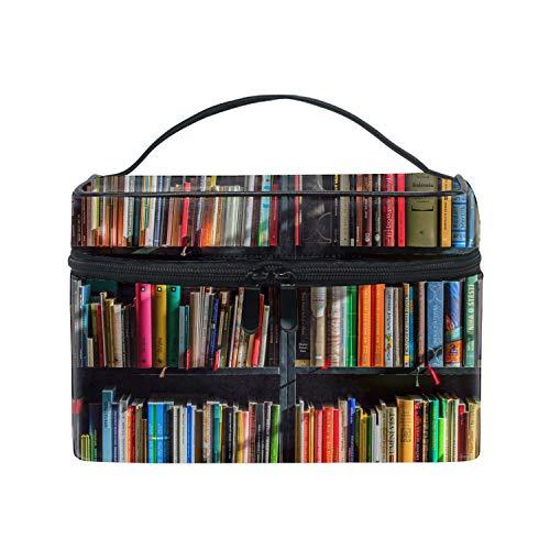 Old Library Books Bookshelf Toiletry Bag Travel Toiletries Bag Sturdy Hanging Organizer for Women Men