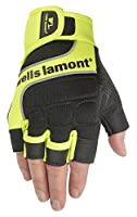 Wells Lamont Men's Hi-Viz Fingerless Synthetic Leather Work Gloves