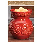 """Hosley 6"""" High Red Ceramic Electric Candle Warmer. Ideal gift for wedding, spa and aromatherapy. Use with brand wax melts/cubes, essential oils and fragrance oils."""