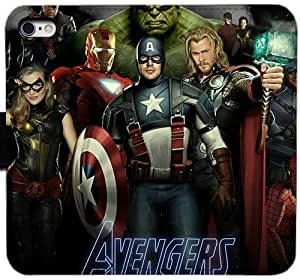 Grouden R Create and Design Folio Case,The Avengers Leather Wallet Cell Phone Case for iPhone 6 6S 4.7 inch,GHL-1677431