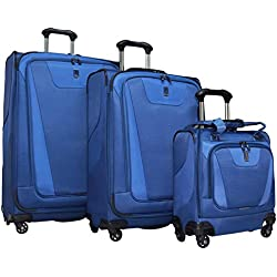 "Travelpro Maxlite 4 3-Piece Luggage Set: 29"", 25"" Expandable Spinners and Easy Carry On Under Seat Bag (Blue)"