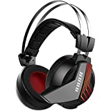 Wireless 7.1 Surround Sound Gaming Headset 2.4GHz Game Headphones for PS4 PC Computer MAC Laptop Tablets Skype Switch 3.5mm Wired Stereo Gaming Headphones for Xbox one Mobile Iphone Ipad Mic Mute