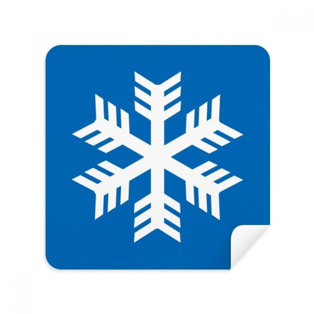 ブルースノーフレーク冬スポーツシルエットメガネクリーニングクロス電話画面クリーナースエードファブリック2pcs   B07C95MQ8P