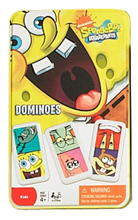 SpongeBob Squarepants Dominoes Game In Tin (Spongebob Dominoes)