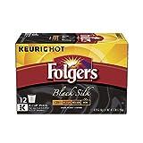 Folgers Black Silk Coffee, Dark Roast, K-Cup Pods for Keurig K-Cup Brewers, 12-Count (Pack of 6)