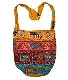 Handcrafted Elephant Bohemian / Hippie / Gypsy Crossbody Bag India