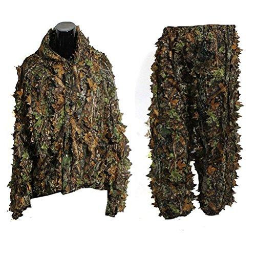 VORCOOL Camo Suit Leaf Camouflage Woodland Suit Set 3D Jungle Forest Hunting Lightweight