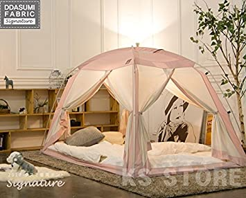 DDASUMI Fabric Signature Indoor Tent 2017 (Double Bed Pink) - 4Doors Prevent : bed tent for double bed - memphite.com
