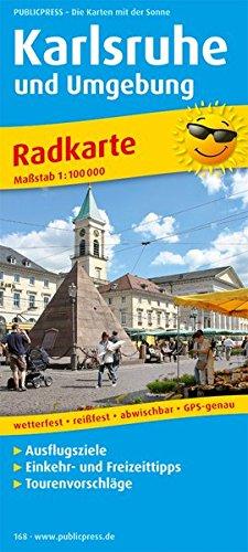Karlsruhe und Umgebung: Radkarte mit Ausflugszielen, Einkehr- & Freizeittipps, wetterfest, reissfest, abwischbar, GPS-genau. 1:100000 (Radkarte / RK)