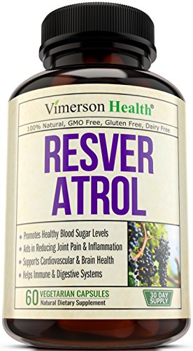 Resveratrol Blend with Japanese Knotweed + Grape Seed + Green Tea + Quercetin - Joint Pain Relief & Anti-Inflammatory Supplement - Best Pills for Heart, Brain, Digestive & Immune Health - 100% Natural