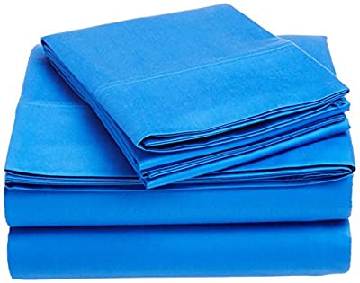 Thread Spread True Luxury 100% Egyptian Cotton - Genuine 1000 Thread Count 4 Piece Sheet Sets - Fits Mattress Upto 18'' Deep Pocket