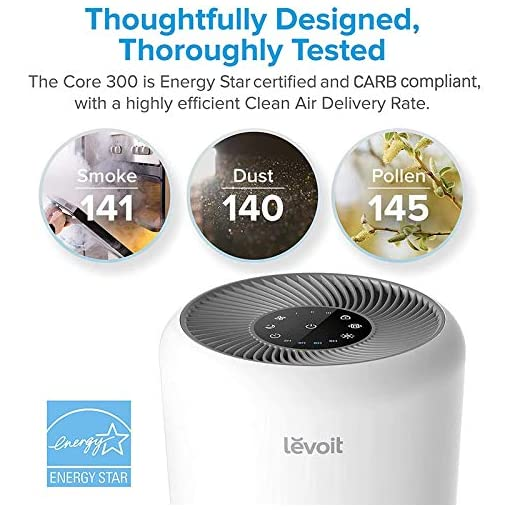 51k0YtQ0f L. SS510  - LEVOIT Air Purifier for Home Allergies and Pets Hair Smokers in Bedroom, H13 True HEPA Filter, 24db Filtration System…