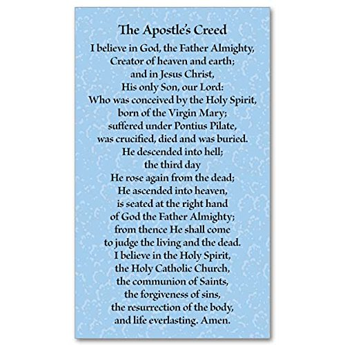 (The Apostle's Creed Holy Prayer Card 2 1/2 by 4 1/4 Inch)
