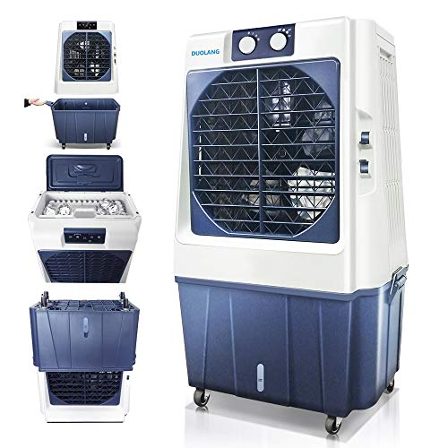 DUOLANG 1353CFM Outdoor Portable Evaporative Air Cooler with Remote,Swamp Cooler with 3 Speeds Rooms up to 861.1-1076.4Sq.Ft,DL-80T