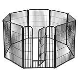 FEANDREA 39.4''H Pet Playpen, Puppy Exercise Dog Fence, Indoor Outdoor 8 Panels, UPPK81H