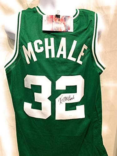 33a8380e5 Kevin McHale Boston Celtics Signed Autograph Custom Green Jersey JSA  Witnessed Certified