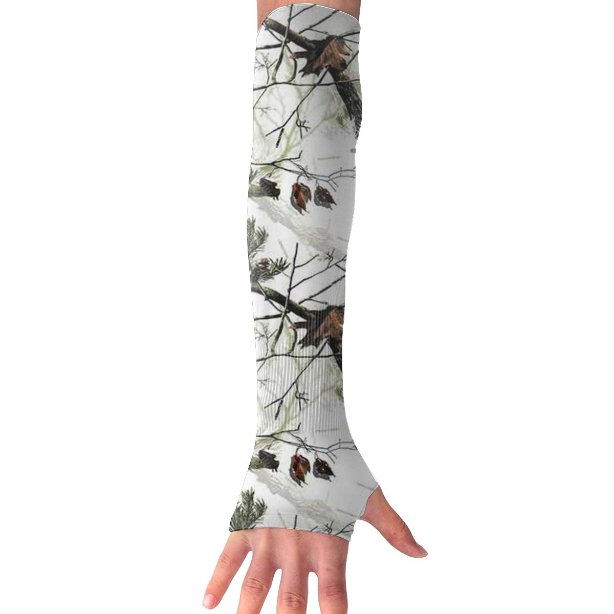 Ruin Gloves White Realtree Camo UV Protection Cooling Arm Sleeves Glove for Men Women Sunblock Cooler Protective Sports