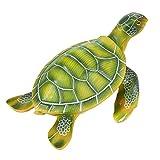 Turtle Sculpture – Garden Statue Decor, Cute Resin Turtle Figurine Garden, Yard, Interior Decoration, Green – 10 x 5 x 7.5 Inches For Sale