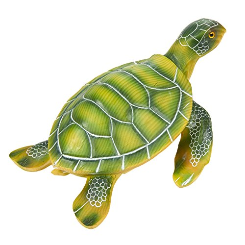 Turtle Sculpture – Garden Statue Decor, Cute Resin Turtle Figurine Garden, Yard, Interior Decoration, Green – 10 x 5 x 7.5 Inches For Sale
