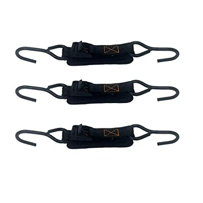 Premium Cam Buckle Tie Downs Straps up to 600lbs, 3pk in Carry Bag