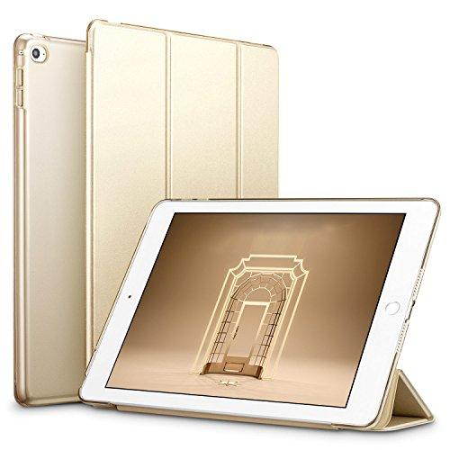 ESR Yippee Trifold Smart Case for iPad Mini 4, Lightweight Trifold Stand Case with Auto Sleep/Wake Function, Microfiber Lining, Hard Back Cover for Apple iPad Mini 4 (2015 Release)7.9''_Champagne Gold