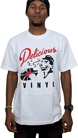 Amazon Com Delicious Vinyl Men S Classic Dv Logo T Shirt Clothing