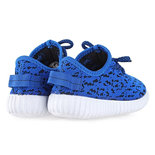 BLINX Boys Jogger Woven Knit Upper Casual Sneakers Shoes Royal Blue 13 by BLINX (Image #3)