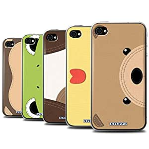 STUFF4 Phone Case / Cover for Apple iPhone 4/4S / Pack 10pcs Design / Animal Stitch Effect Collection
