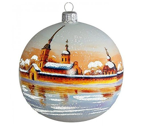 (Peter and Paul Fortress St. Petersburg Christmas Ball Ornament - Glass Christmas Tree Decorations)