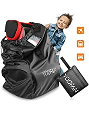 Car Seat Travel Bag - Universal Stroller Bag for Air Travel with Luggage ID Window , Handle Strip& Shoulder Strap - Perfect Waterproof Car Seat Bag for Stroller Buggy Pushchair Pram
