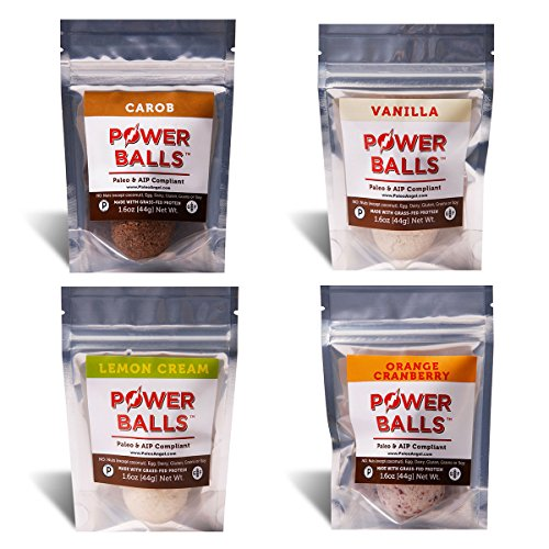 Paleo Angel Power Balls AIP Protein Snack Bars (AIP Variety 4-Pack)