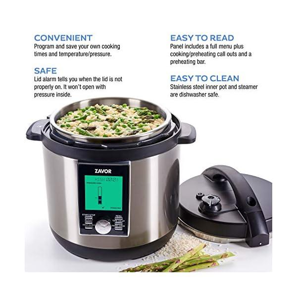 Zavor LUX LCD 6 Quart Programmable Electric Multi-Cooker: Pressure Cooker, Slow Cooker, Rice Cooker, Yogurt Maker… 4