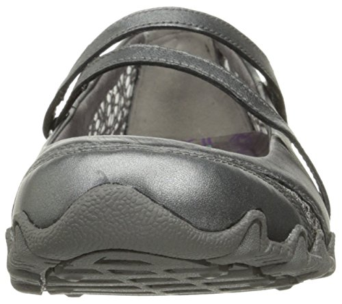 Pewter Sneaker up Leather Crochet Bikers Jane step Mary Skechers wqRnB47