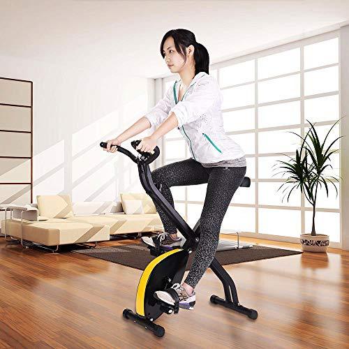 ReaseJoy Foldable Magnetic Exercise Bike Folding X...