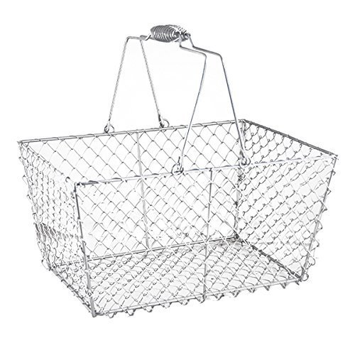 The Lucky Clover Trading Rectangular Wire Mesh Shopping Basket, 12