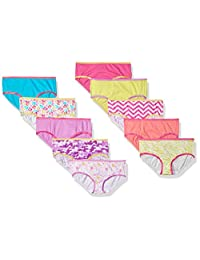 Trimfit Girls 100% Cotton Colorful Hipster Panties (Pack Of 10)