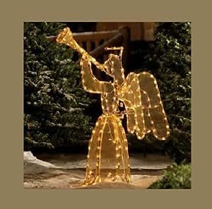 4 FEET CHRISTMAS LIGHTED ANIMATED ANGEL YARD DECOR