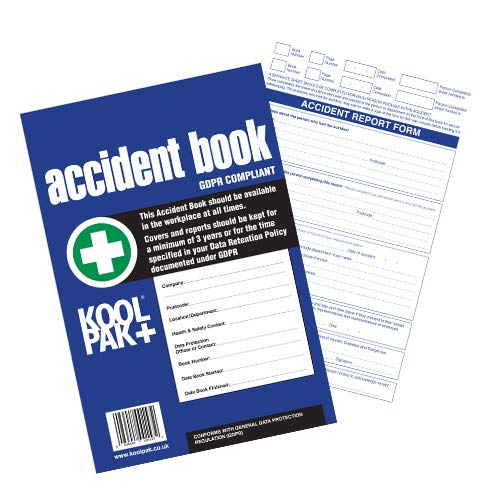 Koolpak GDPR Compliant Business/Workplace Accident Report Book - A4