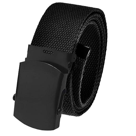 7859a66f672995 All Sizes Men's Golf Belt in 1.5 Black Slider Belt Buckle with Adjustable  Canvas Web Belt