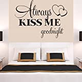 Best Decal For Homes - Wall Stickers ,Ikevan Always Kiss Me Goodnight Wall Review