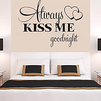 Wall Stickers ,Ikevan Always Kiss Me Goodnight Wall Sticker PVC Decal Home  Bedroom Living Room