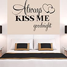 Wall Stickers ,Ikevan Always Kiss Me Goodnight Wall Sticker PVC Decal Home Bedroom Living Room TV Setting Wall Sticker Romance Home Decoration 57x42cm